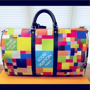 NEW LV Damier 3D Multicolored Keepall 50